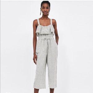 593f5f067c77 Zara Dresses - Bnwt striped jumpsuit w culottes from Zara